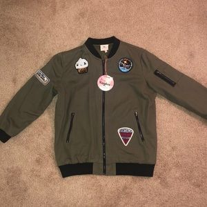 Brand new jacket w/patches (size 11/12)